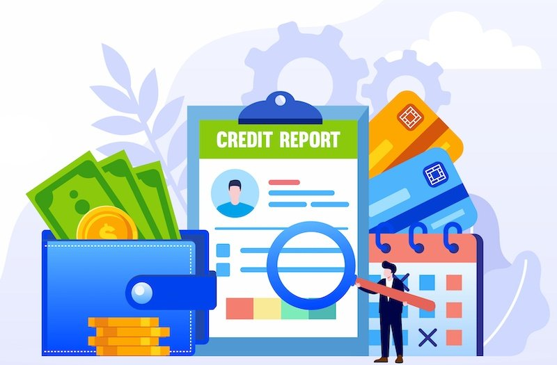 Illustration of a credit report after the arbitration process.