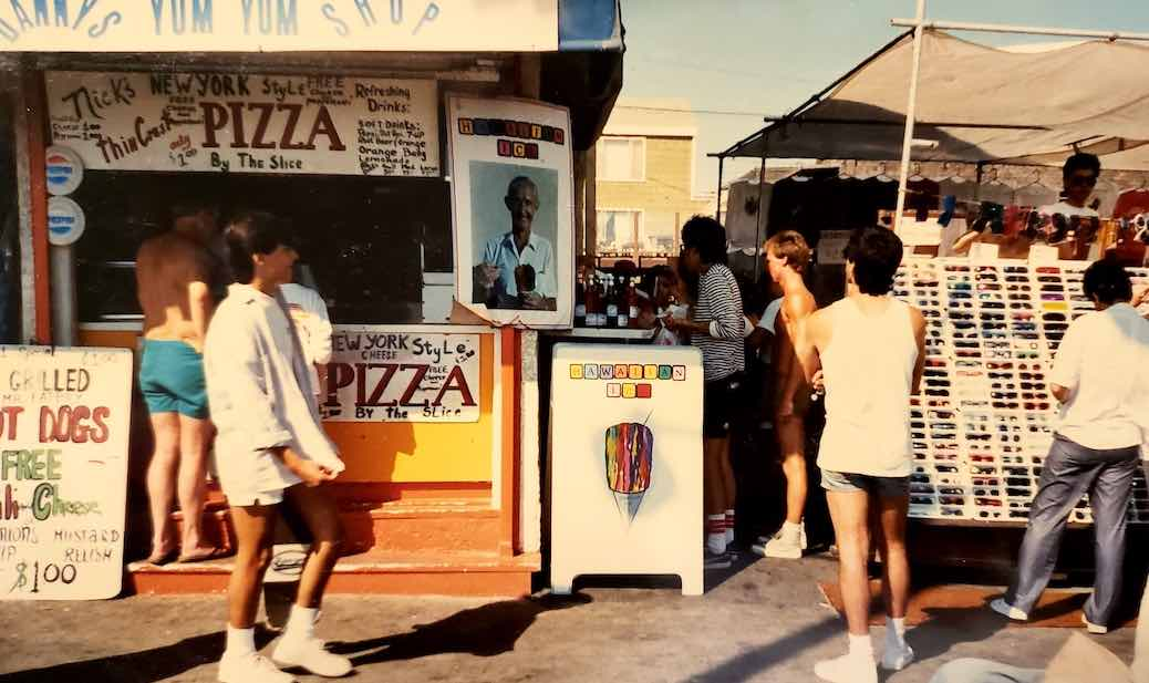 Muscle Beach shaved ice stand circa 1981.